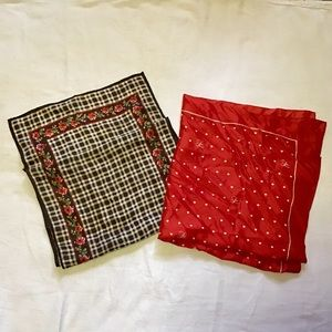 Vintage scarf red love lot bundle